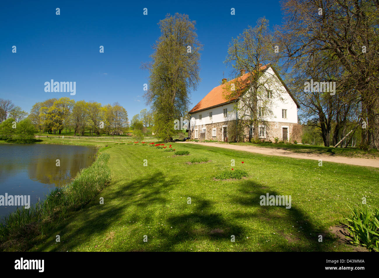 Country house at the lake, a cosiness and silence. - Stock Image