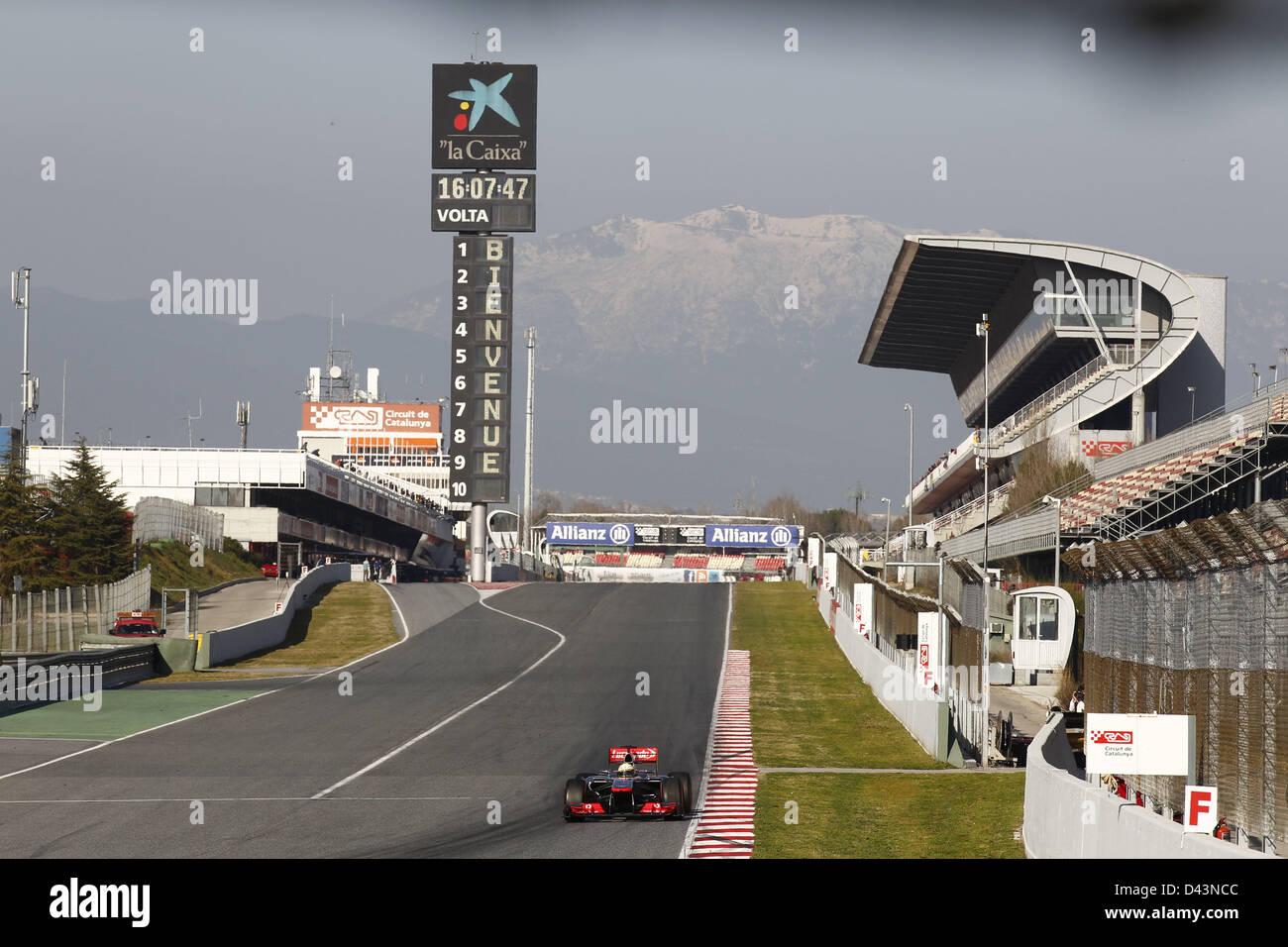 Motorsports: FIA Formula One World Championship 2013, Tests in Barcelona, #AILIVE - Stock Image
