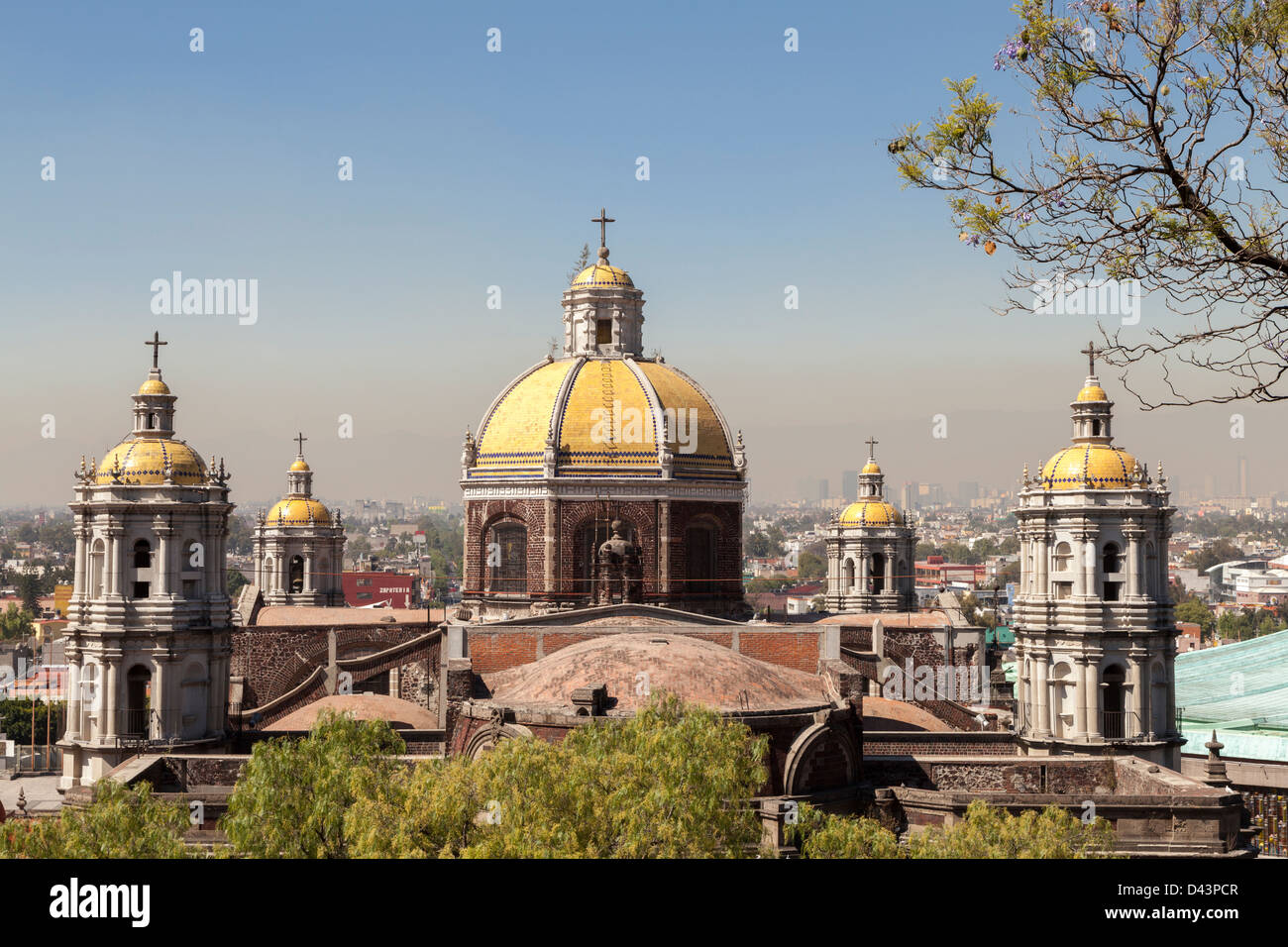 Guadalupe Basilica in Mexico City is the biggest place of pilgrimage in the mexican capital - Stock Image