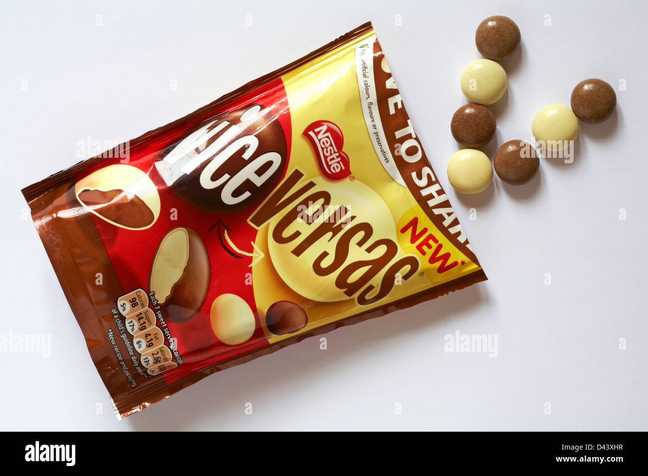 Open Packet Of Nestlé Vice Versas Chocolate Sweets With