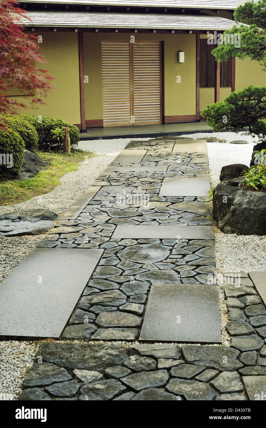 Stone Zen Garden Stone way to the house in traditional japanese zen garden stock stone way to the house in traditional japanese zen garden workwithnaturefo