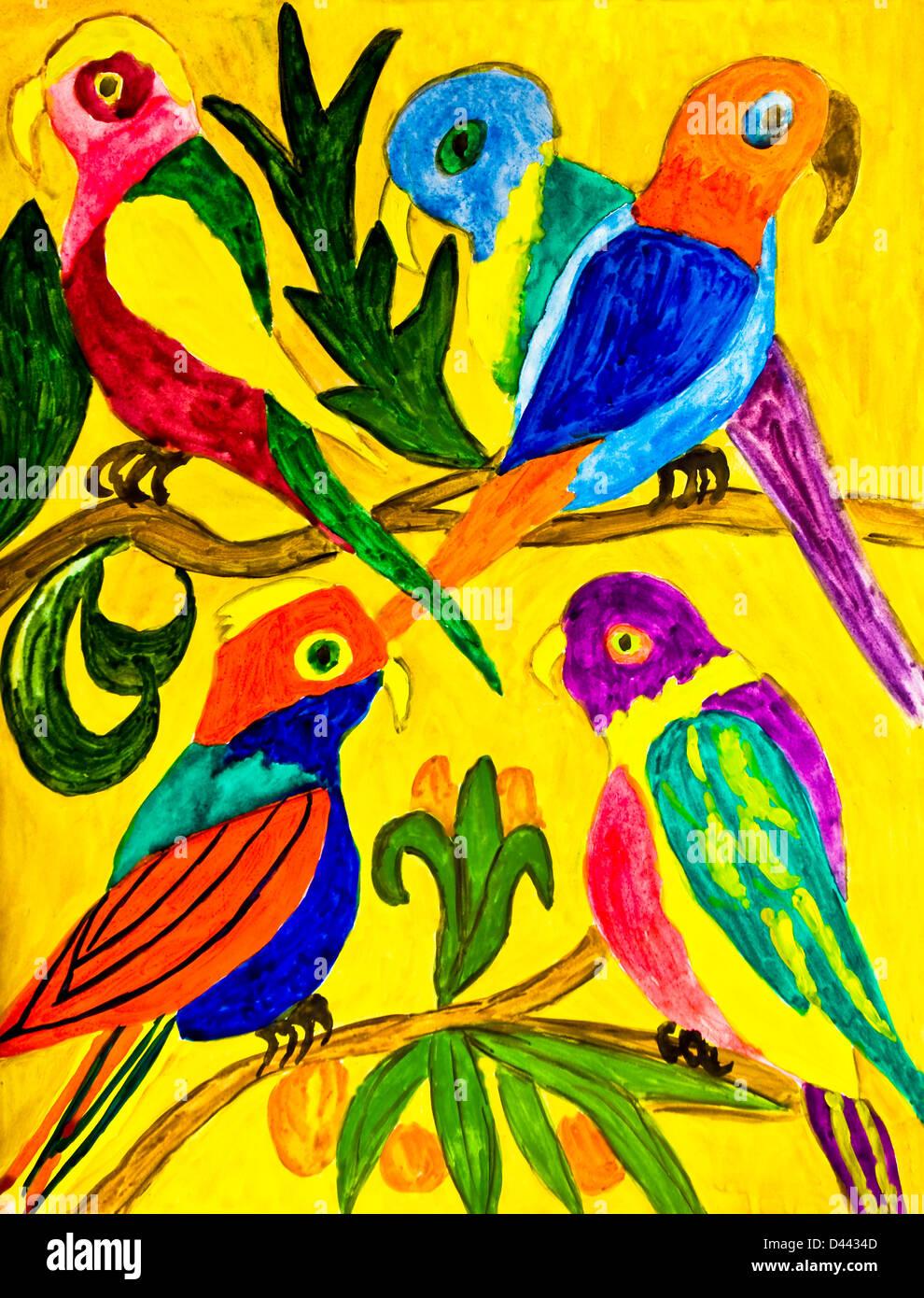 Parrots Art Stock Photos & Parrots Art Stock Images - Alamy