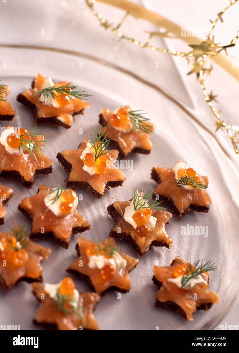 Christmas Starters.Occasions Christmas Starters Parties Stock Photos