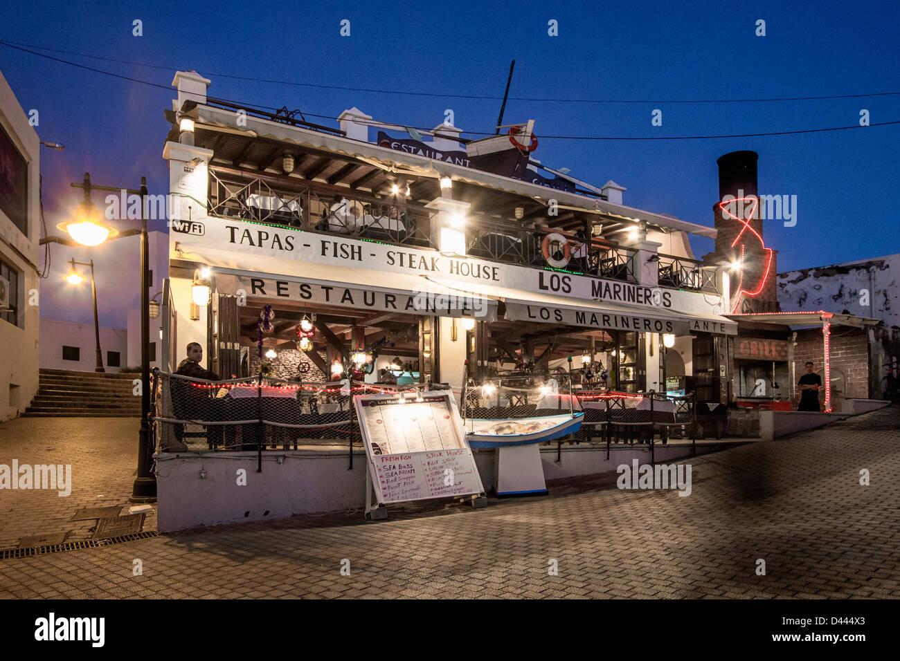 Puerto del carmen fish restaurant lanzarote canary islands spain stock photo 54181403 alamy - Port del carmen lanzarote ...