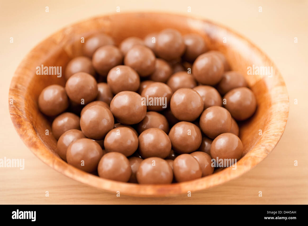 Maltesers in a bowl - Stock Image