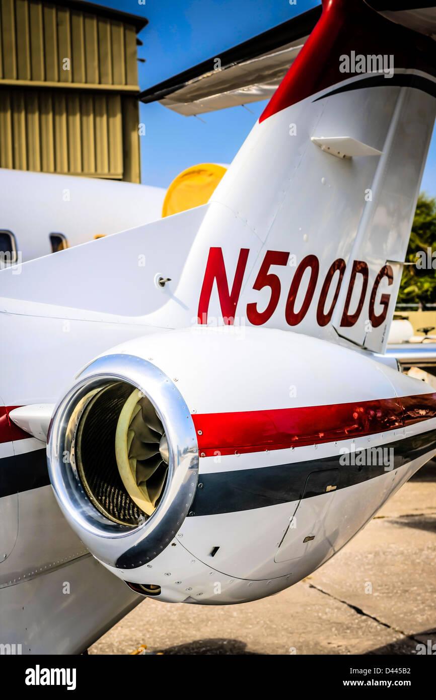 An Eclipse 500 small business jet Pratt & Whitney Canada PW610F Turbofan engine - Stock Image