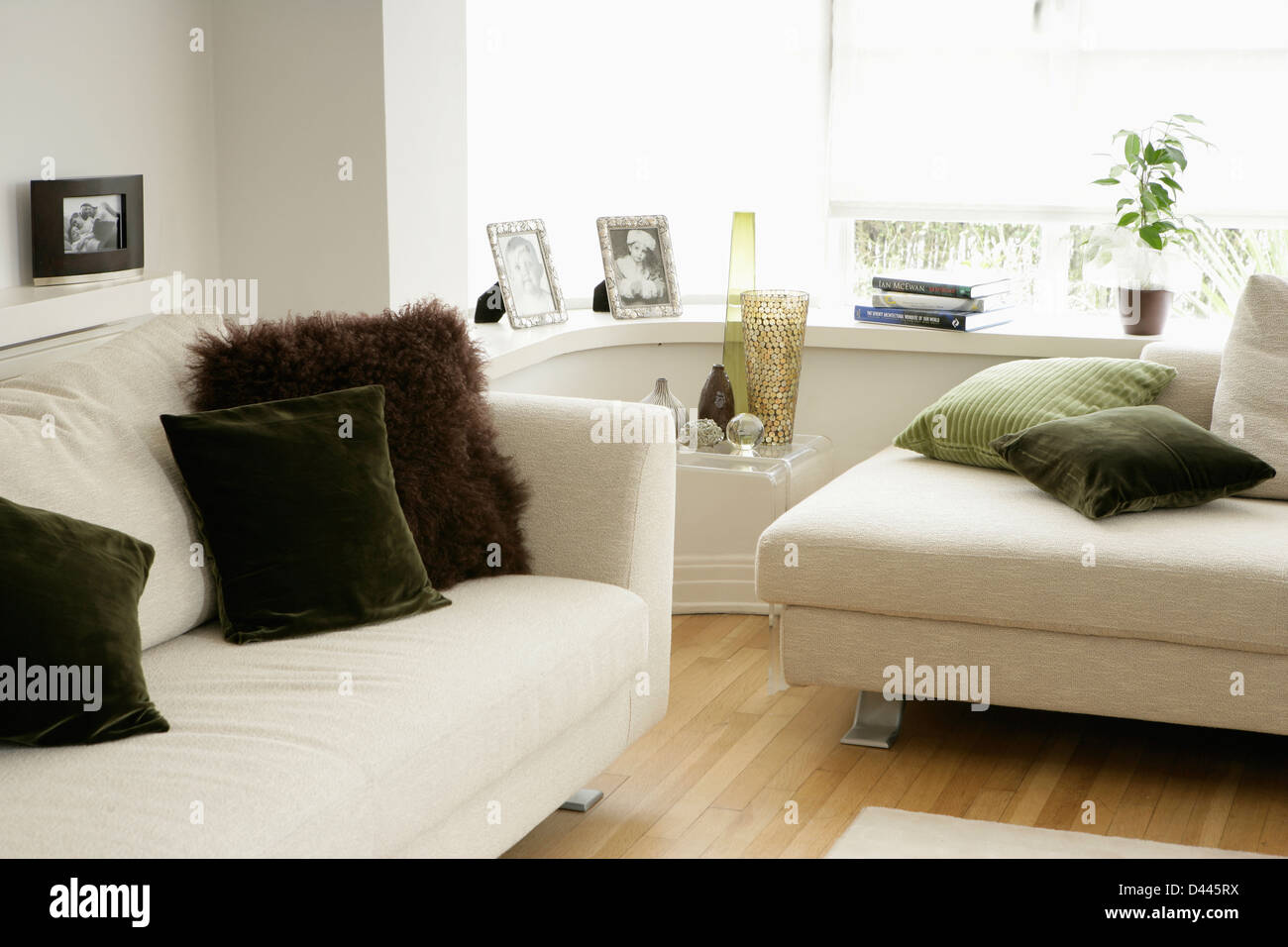 Outstanding White Sofas With Brown Velvet And Faux Fur Cushions In Light Ibusinesslaw Wood Chair Design Ideas Ibusinesslaworg