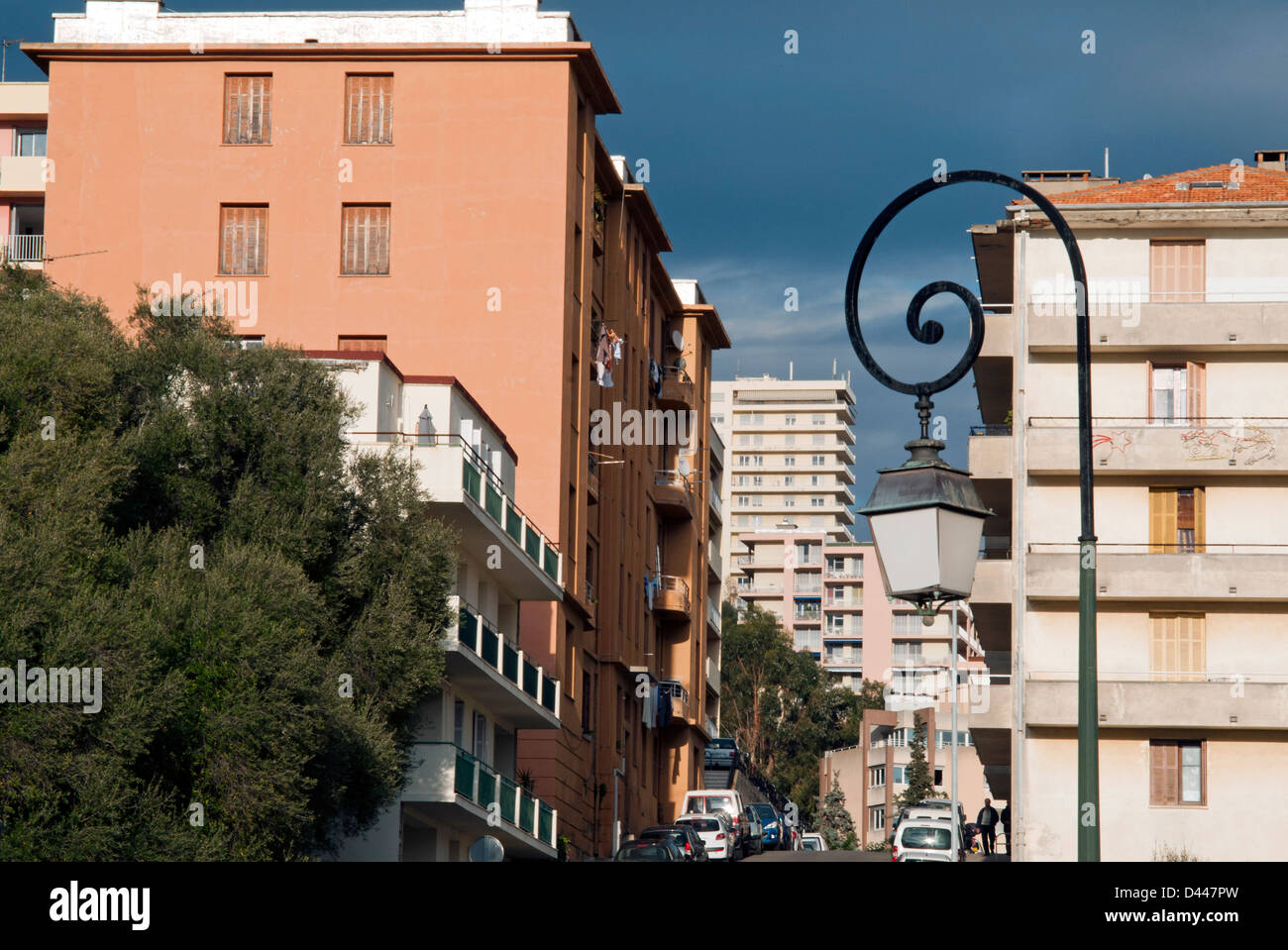 Modern city, Ajaccio, Corsica, France, Europe - Stock Image