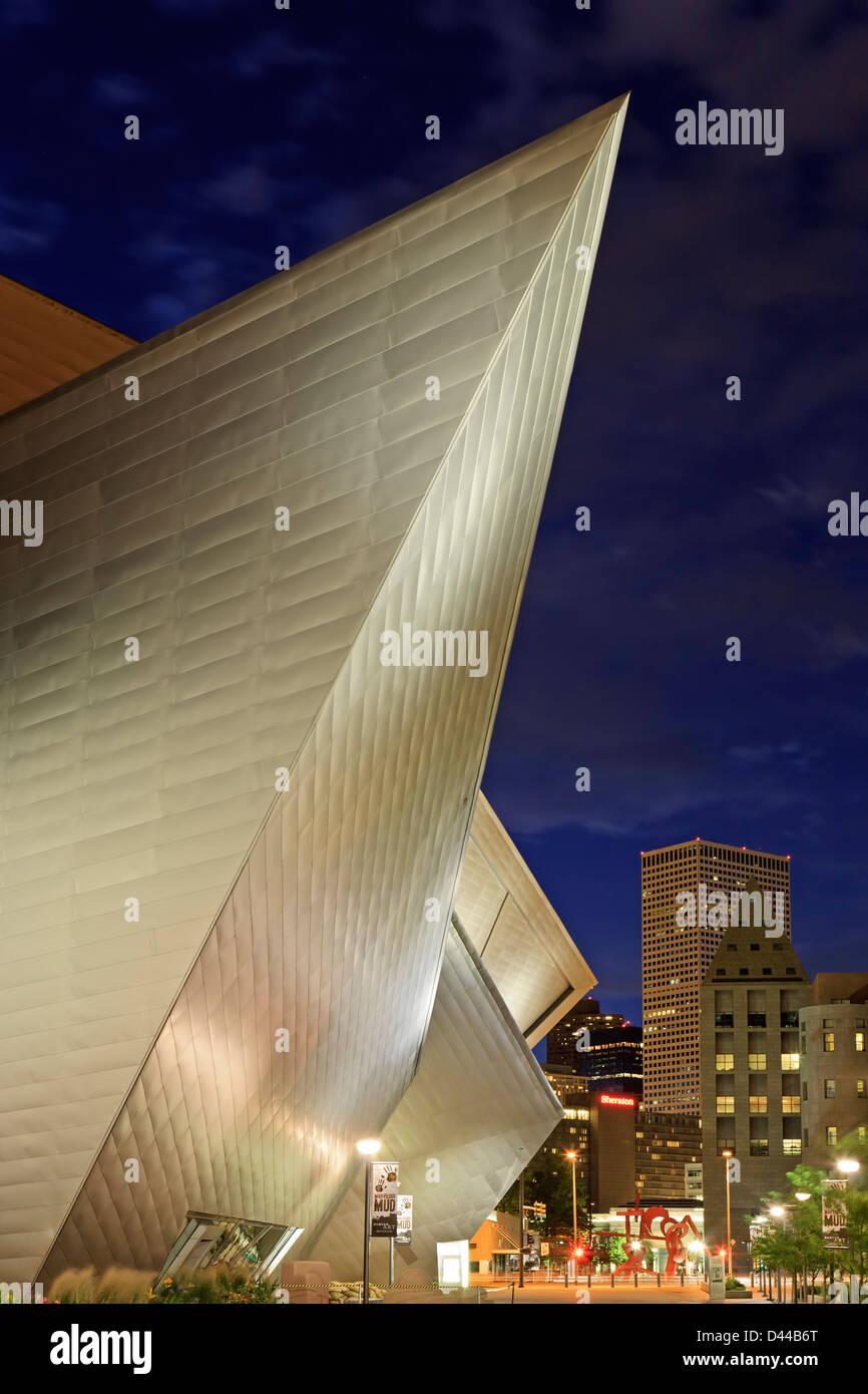 Denver Art Museum, Denver, Colorado USA - Stock Image