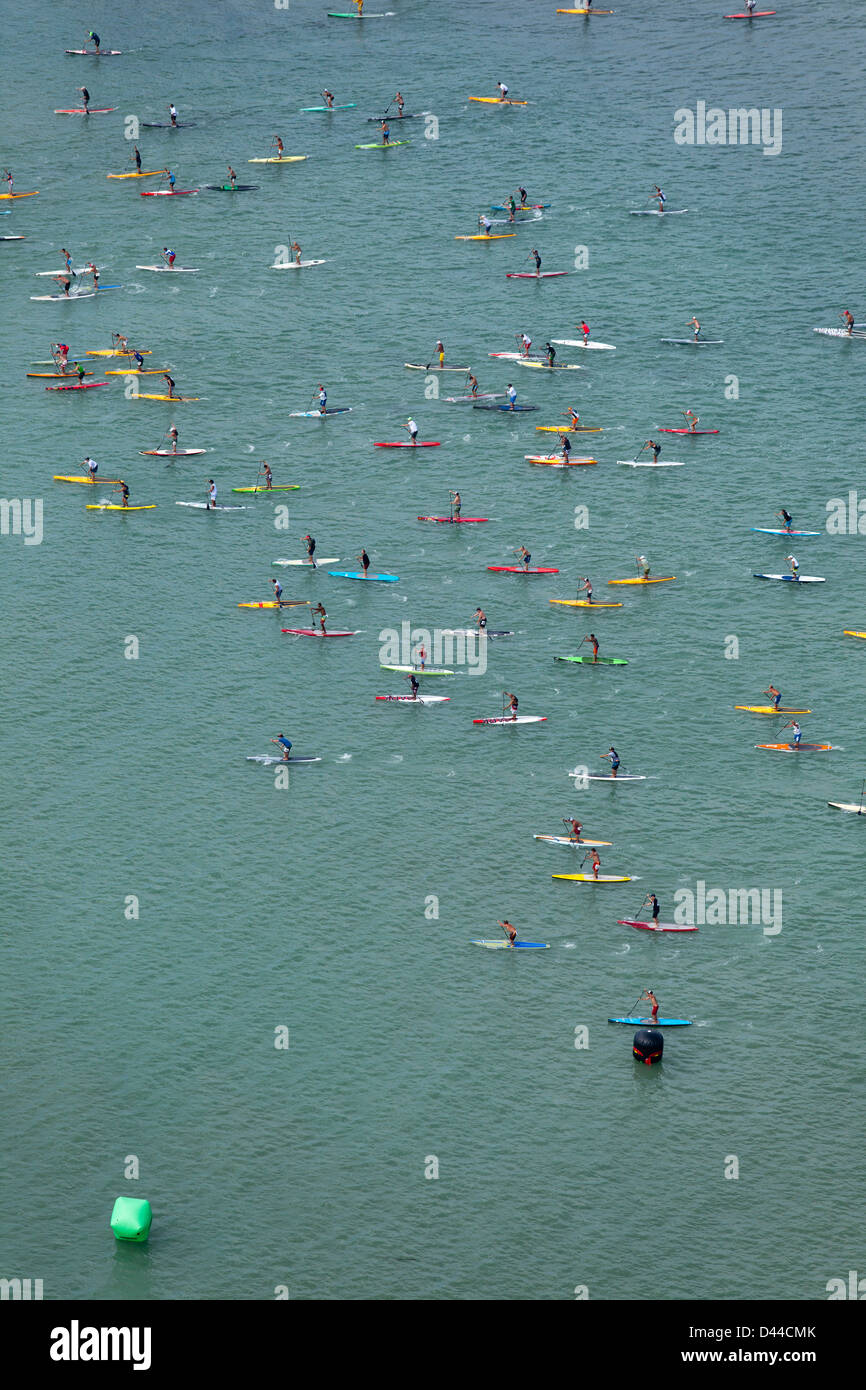 Battle Of the Paddle, Dana Point CA Aerials - Stock Image