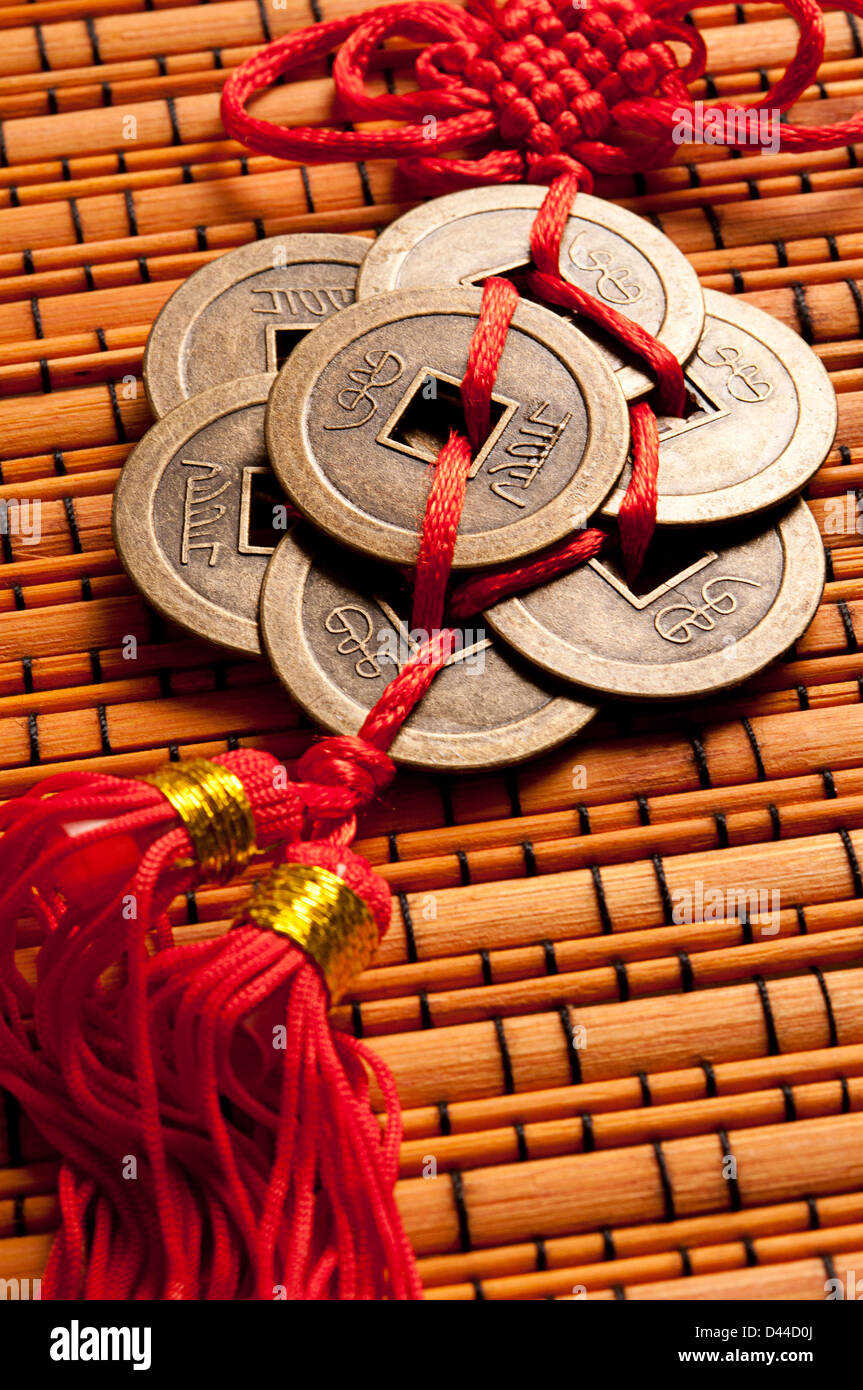 Chinese Feng Shui Coins For Wealth And Success Stock Photo Alamy