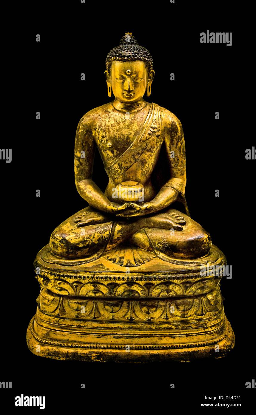 Amitabha Buddha Tibet Tibetan 15th century Buddhism - Stock Image