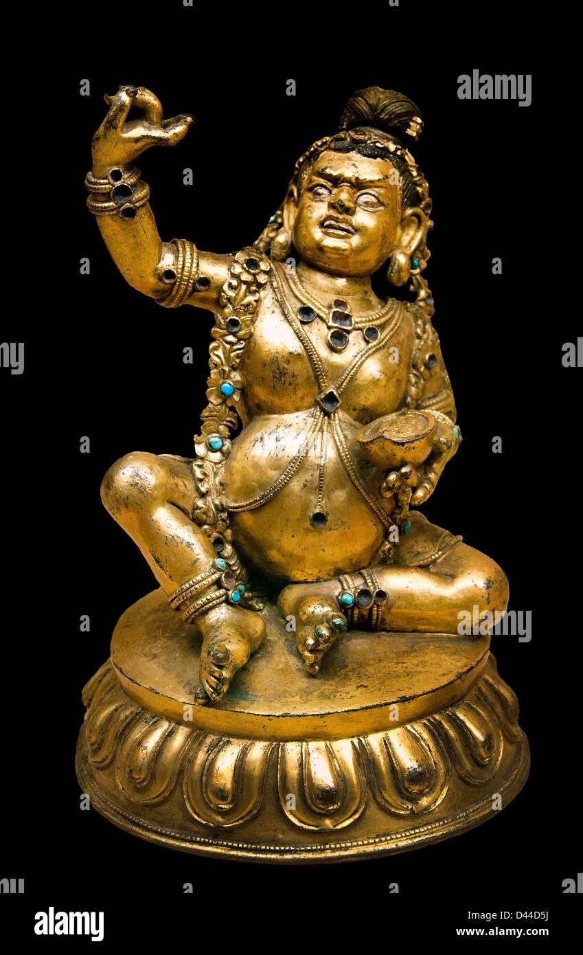 Mahasiddha Krishnapada Tibet Tibetan 17th century Buddhism - Stock Image