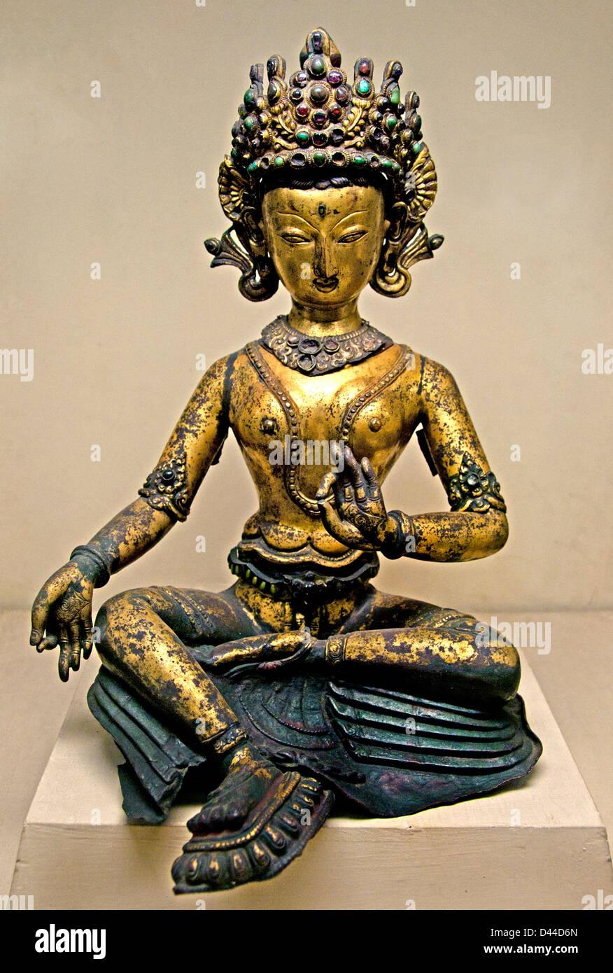 Matrika mother goddess Nepalese Nepal 14th century - Stock Image