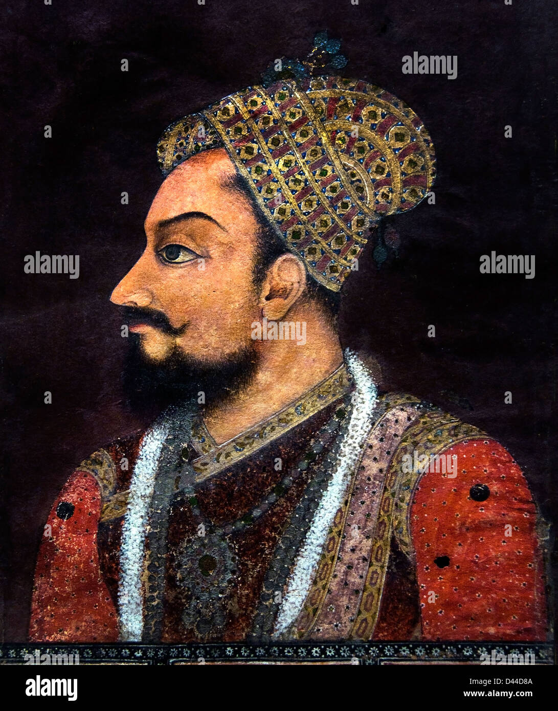 Muhammad Adil Shah fourth ruler of the Sur dynasty medieval Afghan dynasty of northern India17th Cent Decanni Bijapur - Stock Image