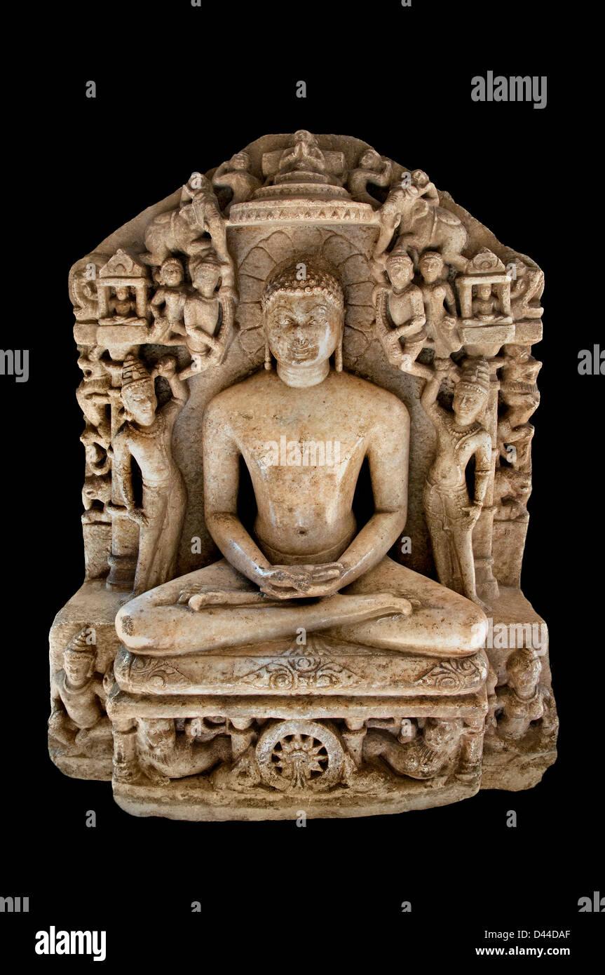 Shantinatha 12 th Cent AD Gujarat Jain Jainism India - Stock Image