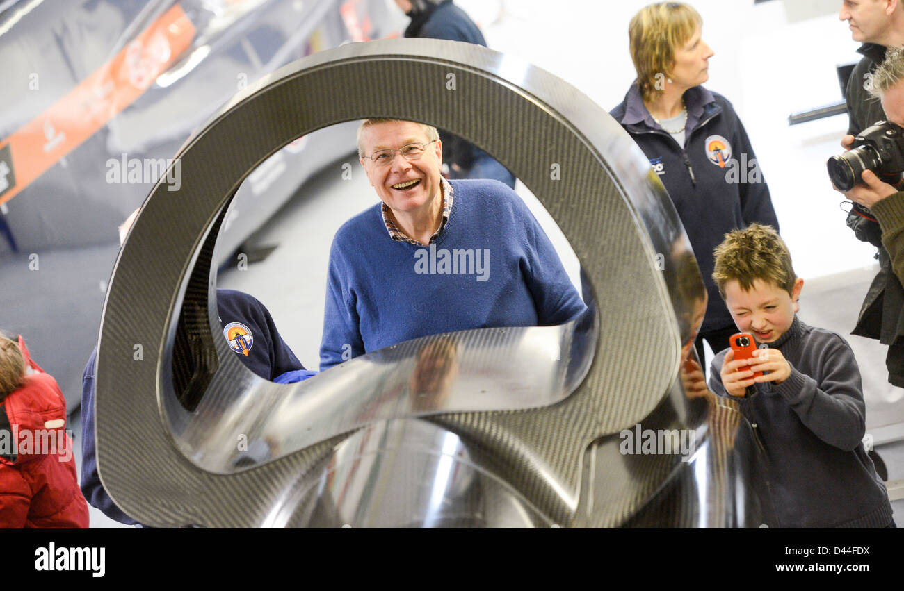 The driver's tub for the record attempt super sonic car Bloodhound SSC is completed at the URT factory in Bognor, - Stock Image