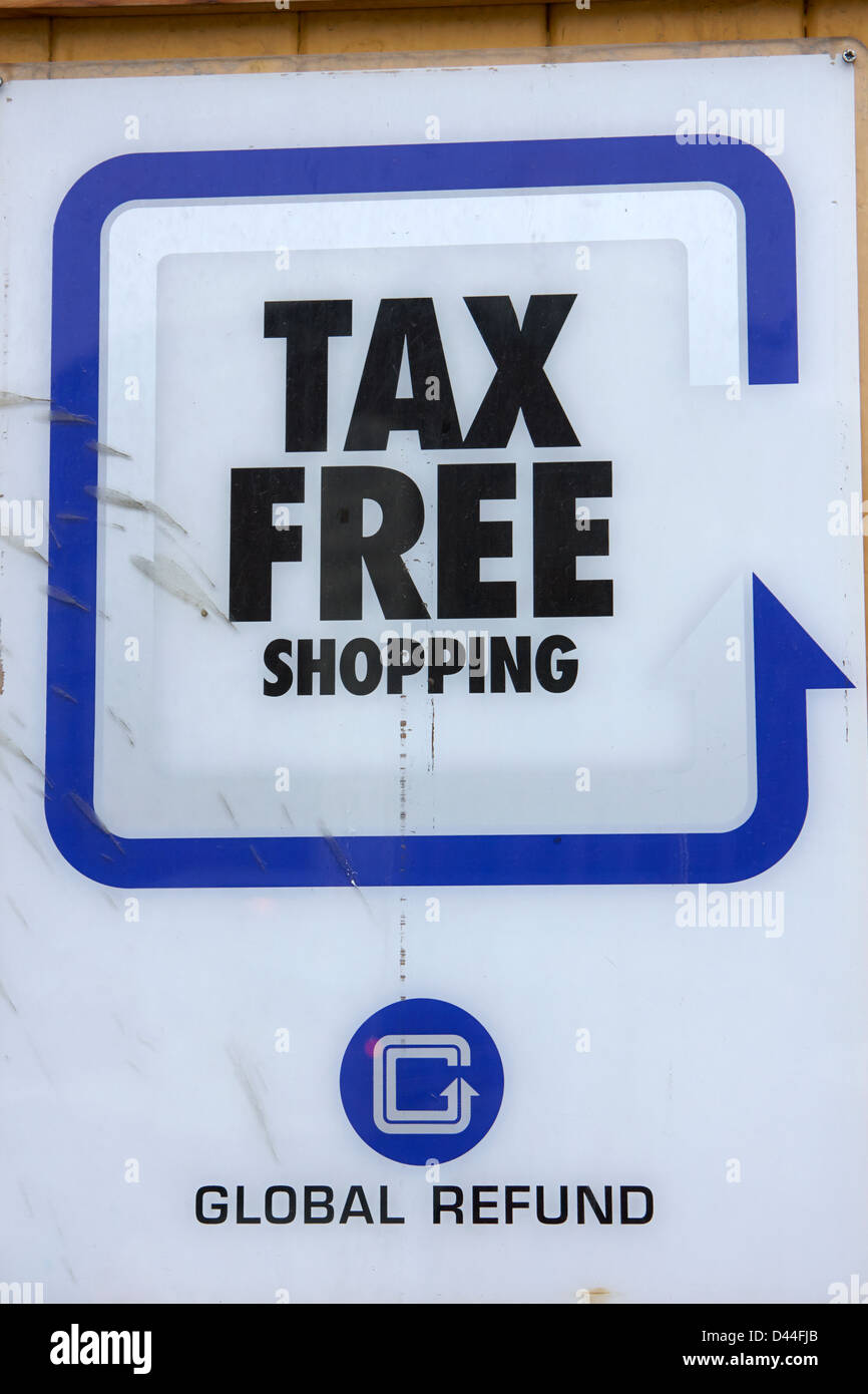 new concept 7cef4 477fd tax free shopping sign Tromso troms Norway europe