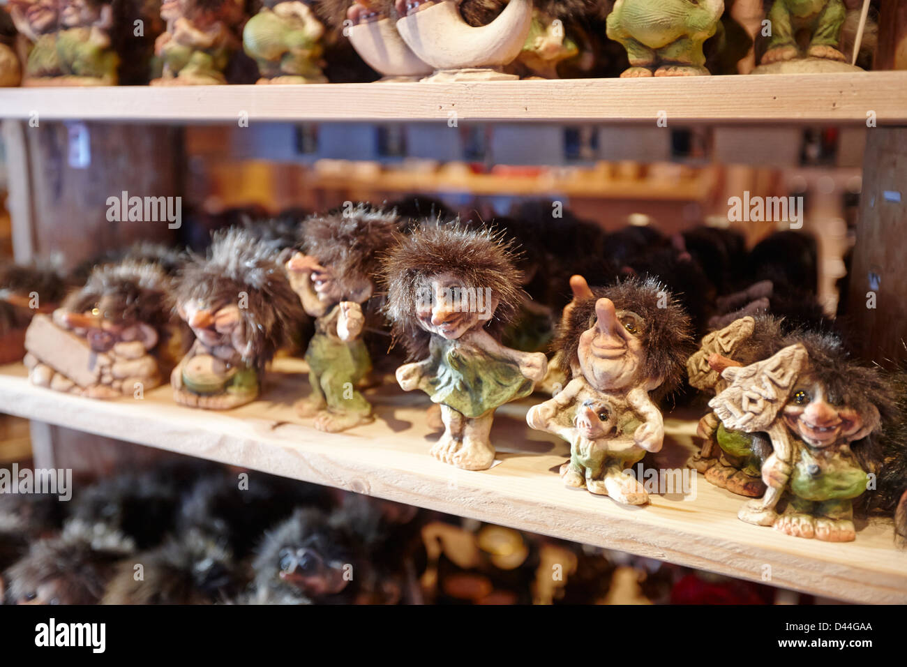 Norwegian Trolls Souvenirs For Sale In A Gift Shoptromso Troms Norway Stock Photo Alamy