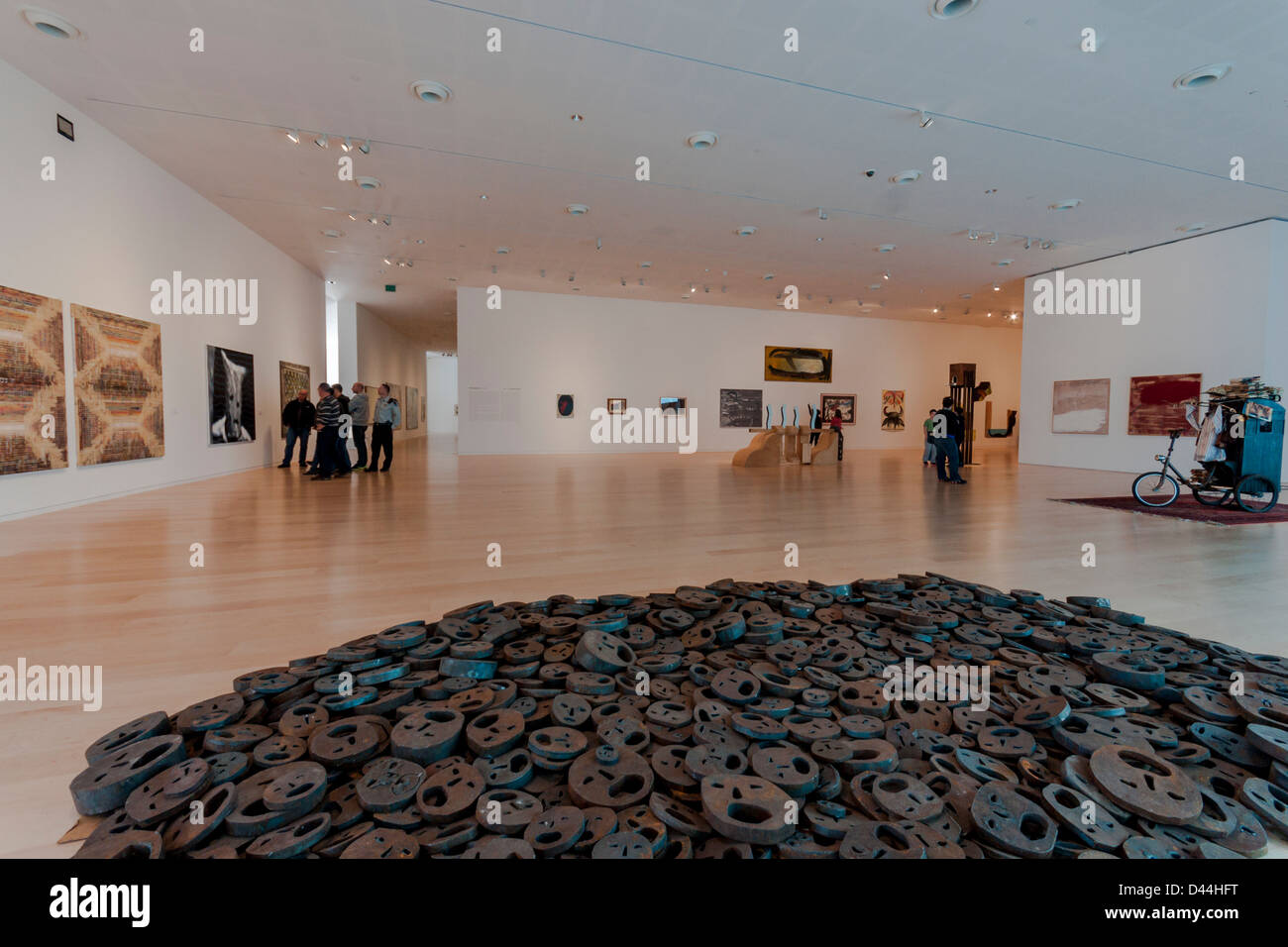 Israel. Contemporary Israeli artwork on display at the Tel-Aviv museum of art. - Stock Image