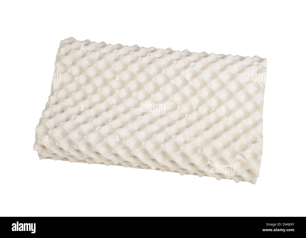 Latex natural material inside the hygienic pillow to protects mite dust and support your neck - Stock Image
