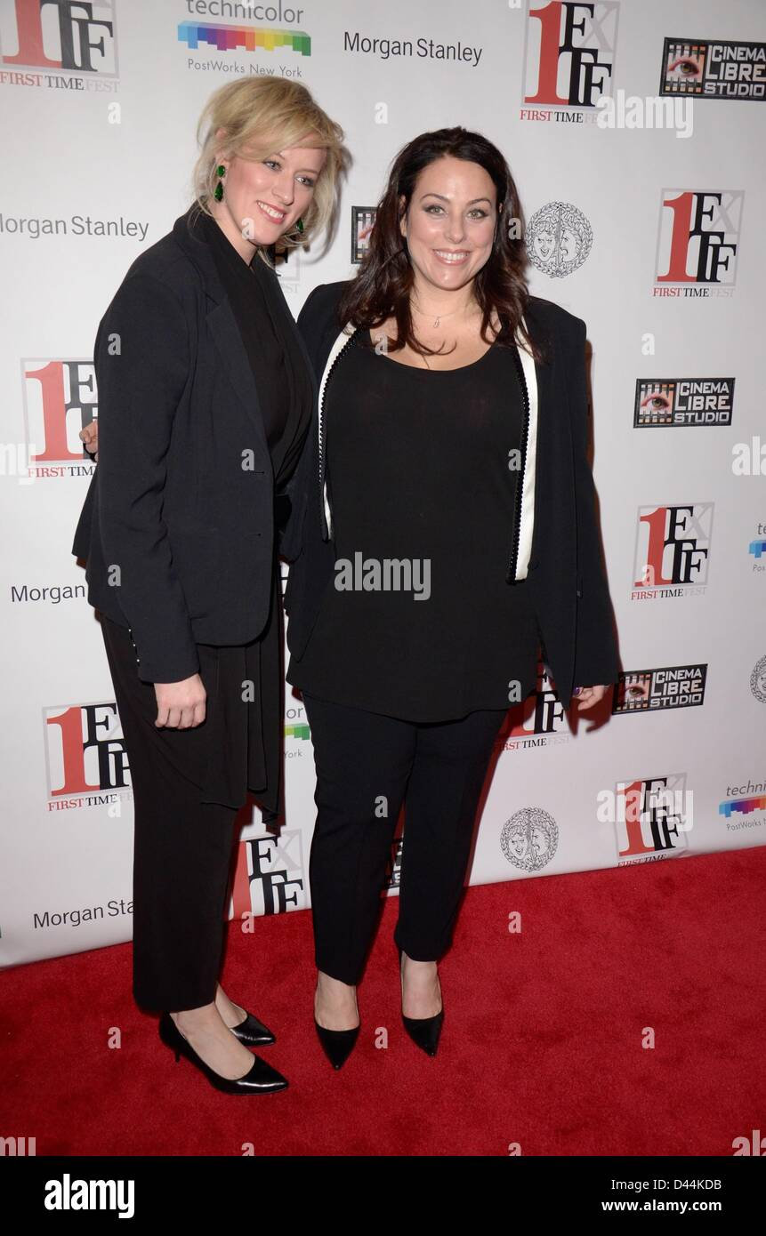 Mandy Ward, Johanna Bennett at arrivals for First Time Fest Closing Night Awards, The Players Club, New York, NY - Stock Image