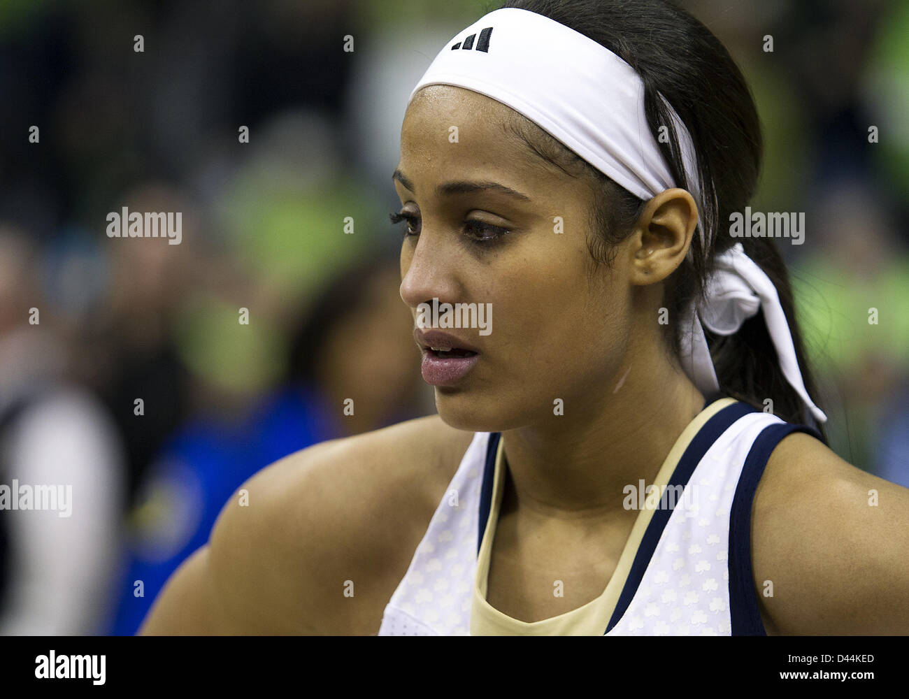 March 4, 2013 - South Bend, Indiana, United States of America - March 04, 2013: Notre Dame guard Skylar Diggins - Stock Image