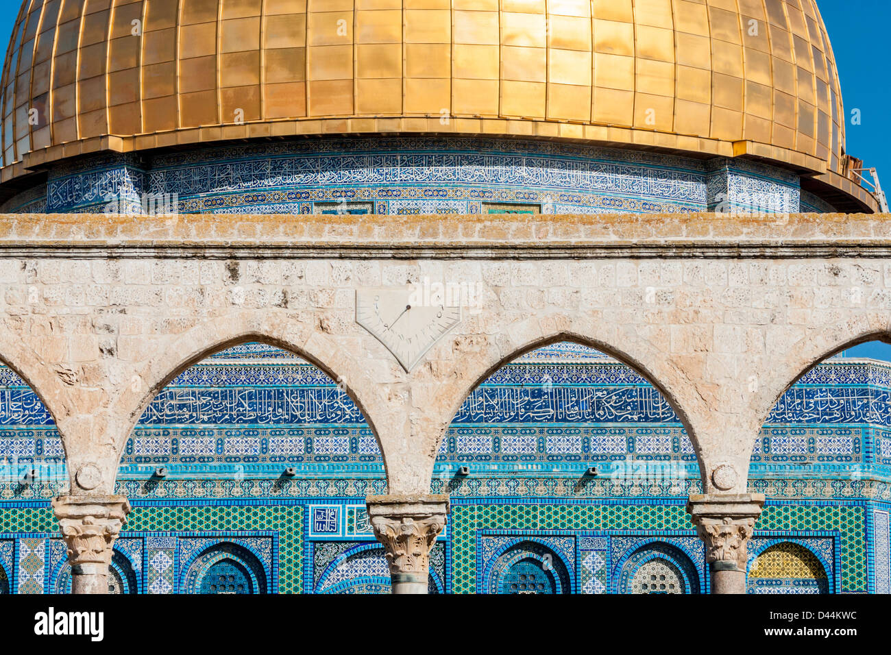 Temple Mount Jerusalem Israel Closeup Of The Dome Of The Rock