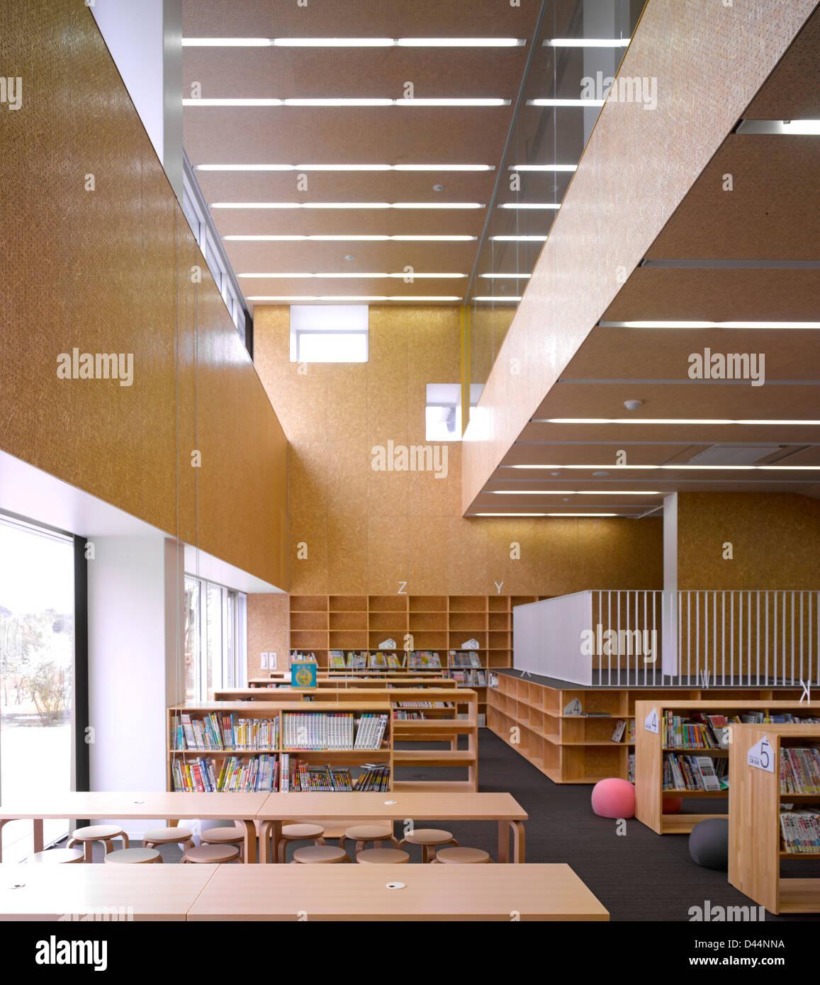 Teikyo University Elementary School, Tokyo, Japan. Architect: Kengo Kuma,  2012. Interior View Library.
