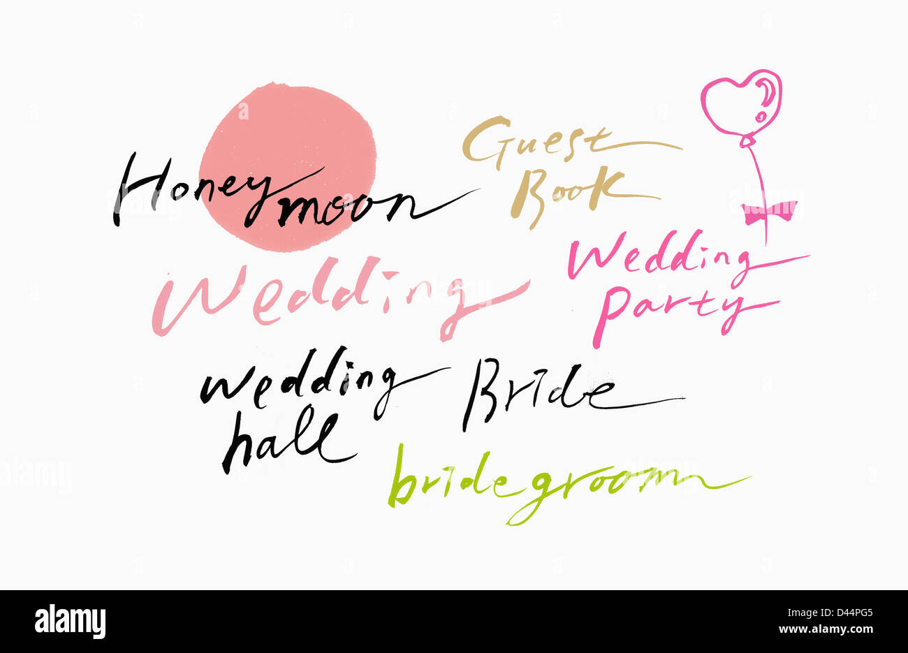 words related to wedding and marriage stock photo 54195237 alamy