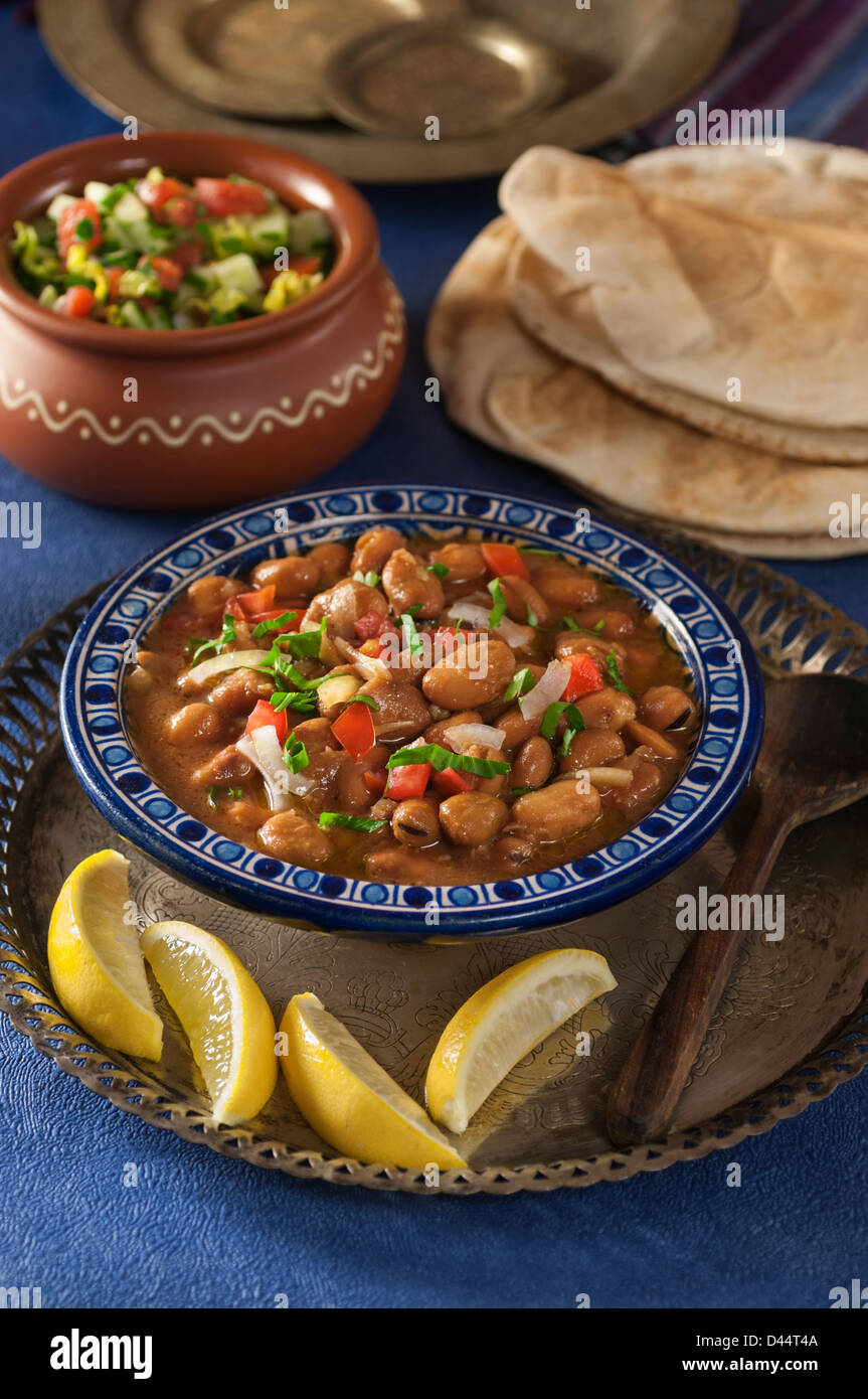 Ful medames Fava bean dish Middle East - Stock Image