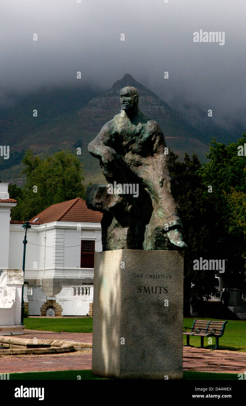 statue of jan christian smuts,cape town,south africa - Stock Image