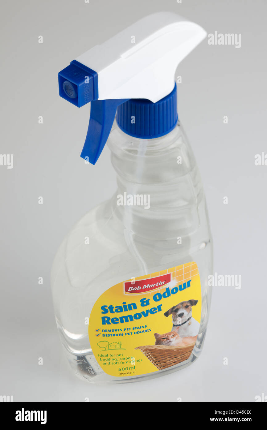 Bob Martins spray pet stain and odour remover - Stock Image