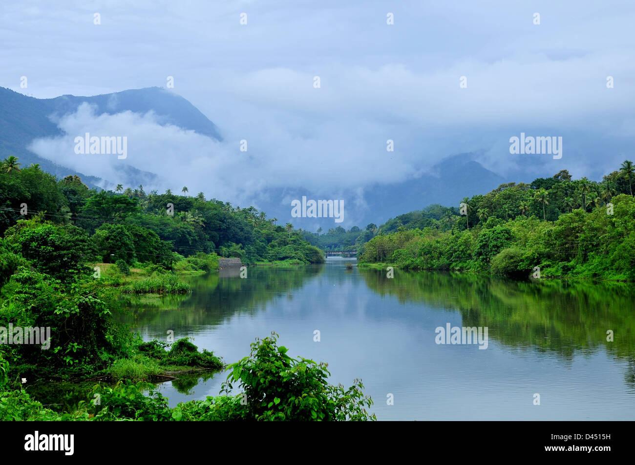 Moolamattom is the headquarters of Arakulam Panchayath in Thodupuzha Taluk, Idukki district in Kerala, India - Stock Image