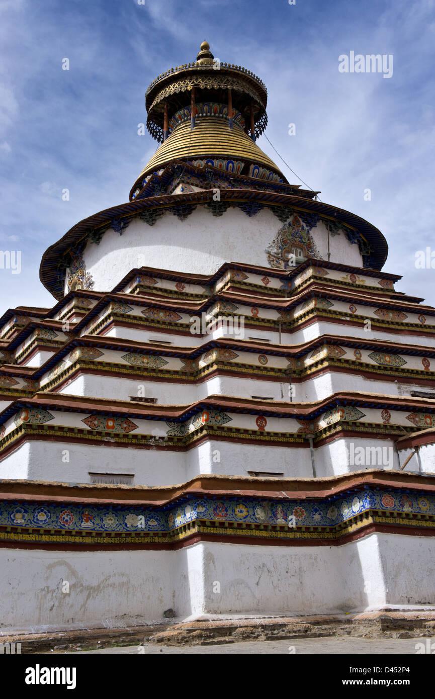Kumbum Chörten, Palkhor Chöde, Palcho Monastery, Gyantse, along Southern Friendship Highway,Tibet Stock Photo
