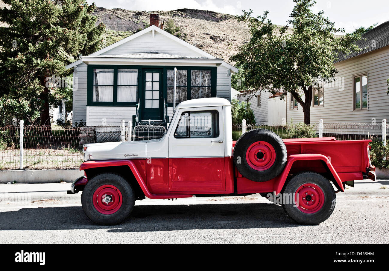 Old pick up truck outside ranch, Montana, USA Stock Photo: 54202336 ...