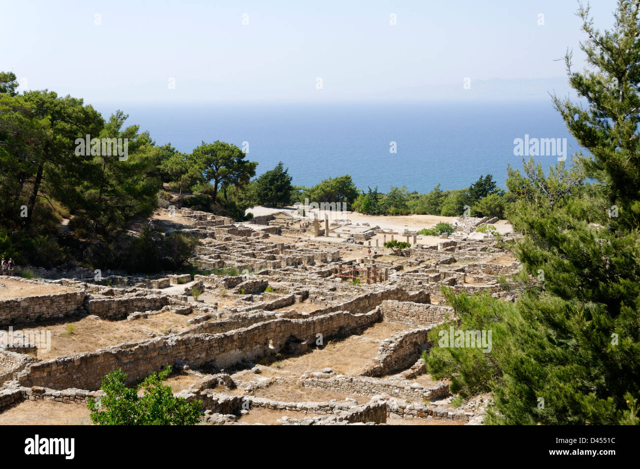 Rhodes Greece. General view of the archaeological site of Ancient Kameiros, set idyllically on the west coast of - Stock Image