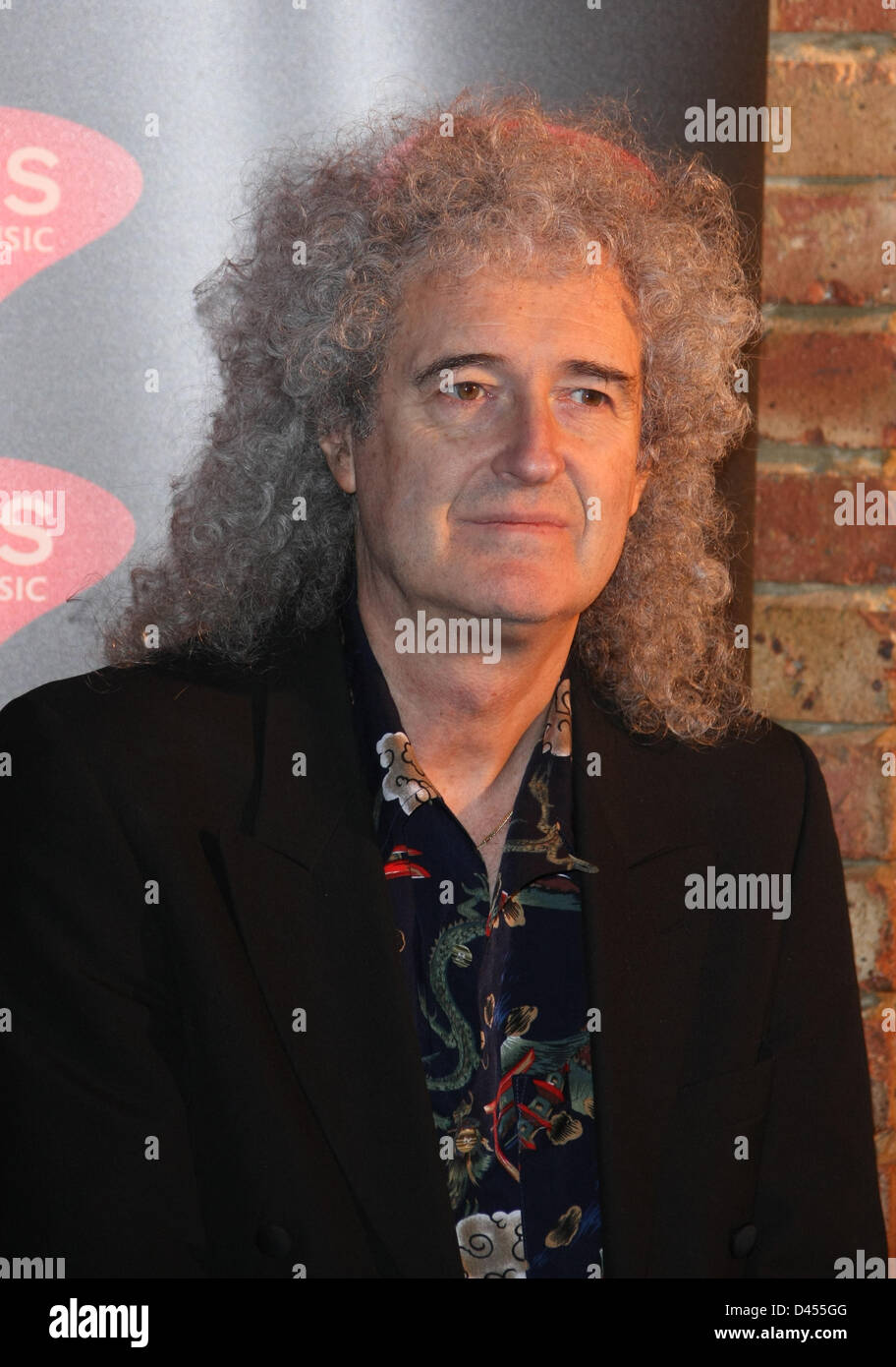 BRIAN MAY PRS FOR MUSIC HONOURS QUEEN WITH A HERITAGE AWARD IMPERIAL COLLEGE LONDON  UK 05 March 2013 Stock Photo