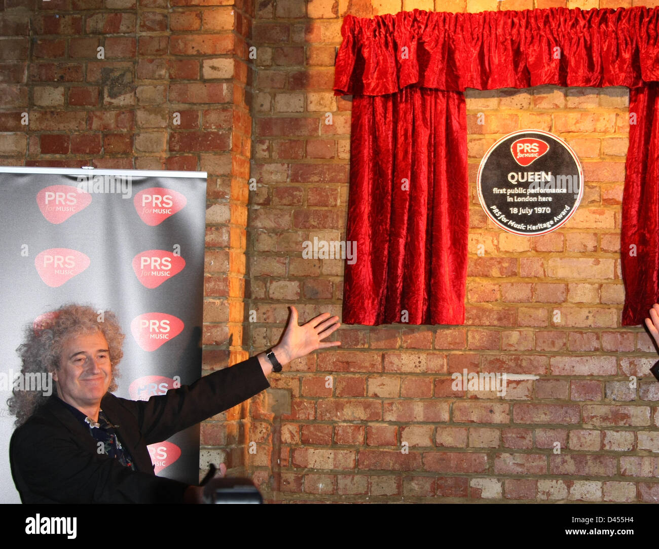 BRIAN MAY PRS FOR MUSIC HONOURS QUEEN WITH A HERITAGE AWARD IMPERIAL COLLEGE LONDON  UK 05 March 2013 - Stock Image