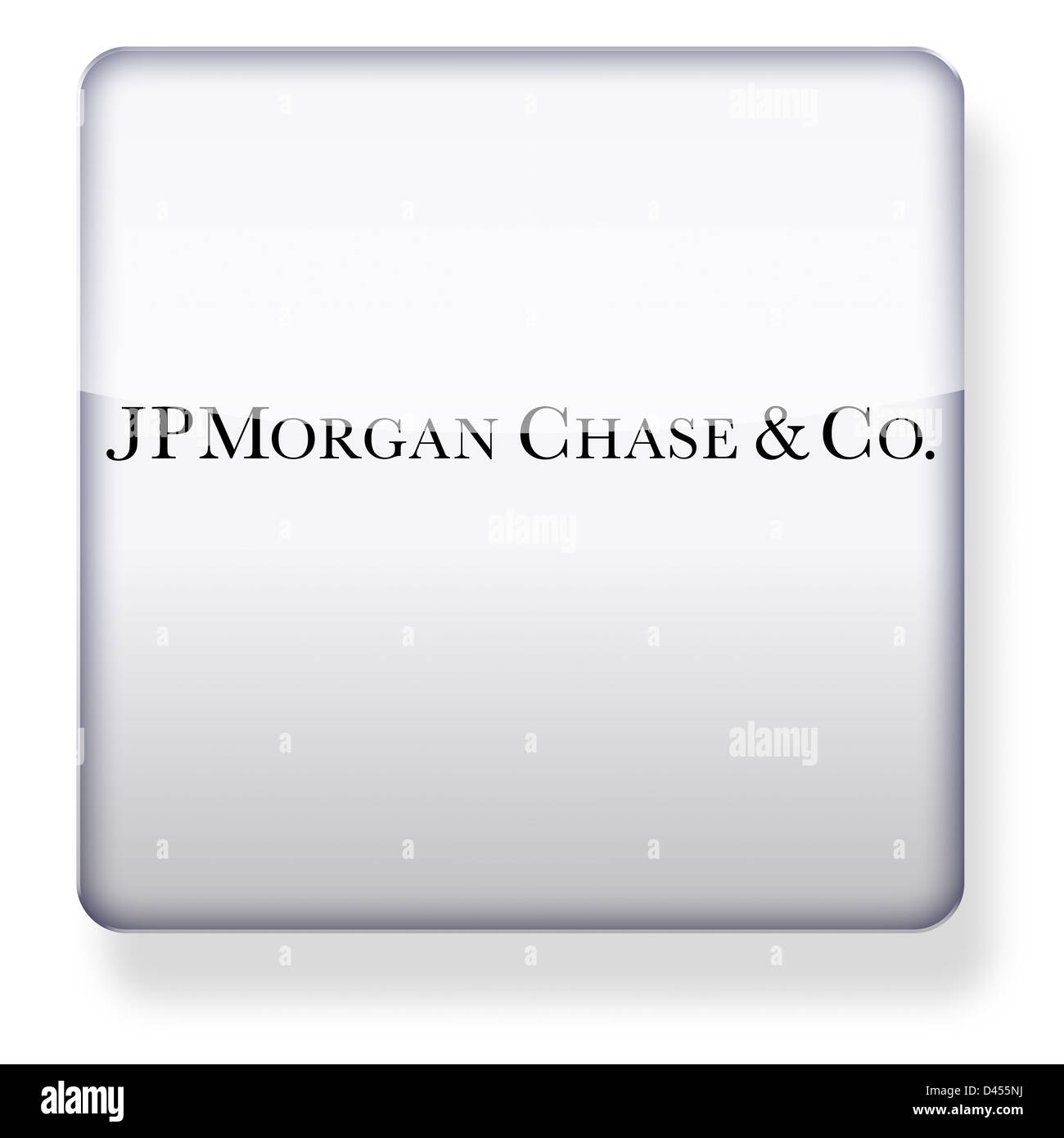 JP Morgan Chase logo as an app icon. Clipping path included. Stock Photo