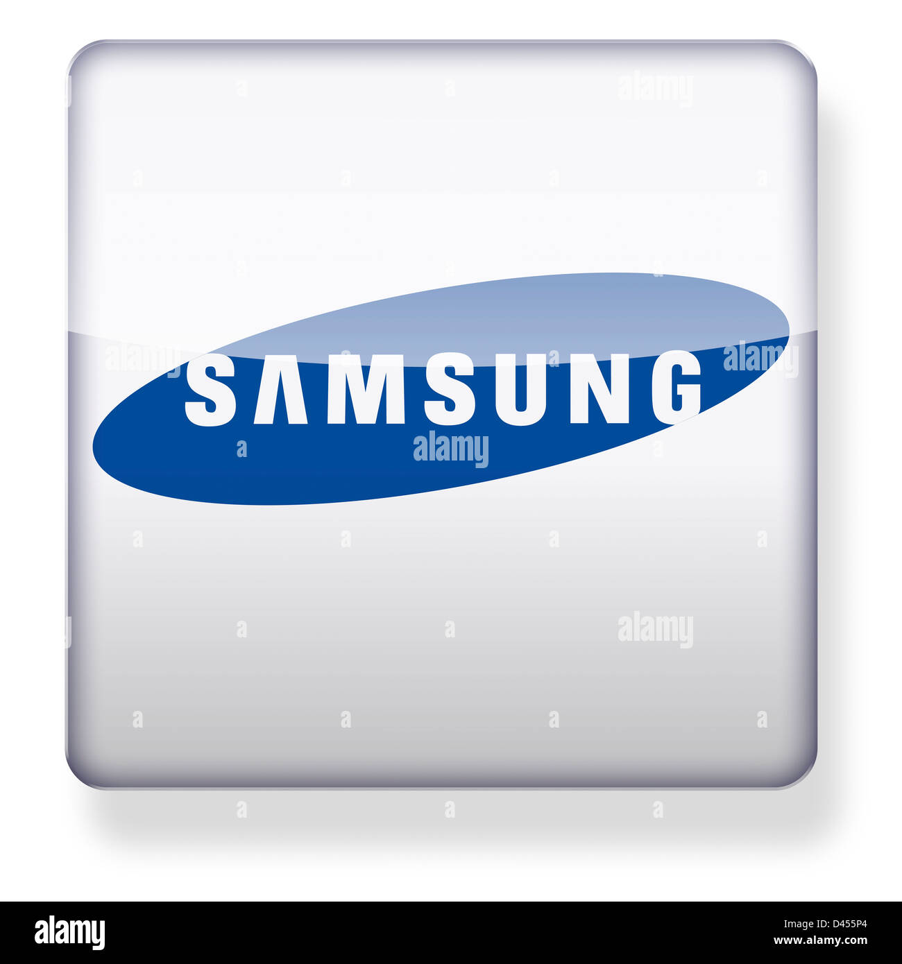 Samsung logo as an app icon. Clipping path included. - Stock Image
