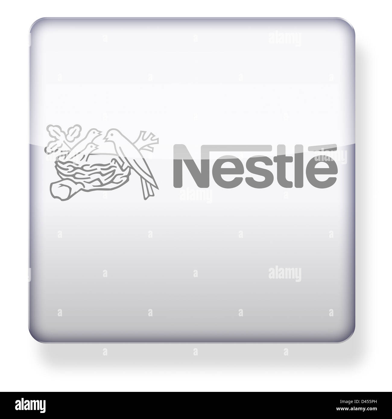 Nestle logo as an app icon. Clipping path included. - Stock Image