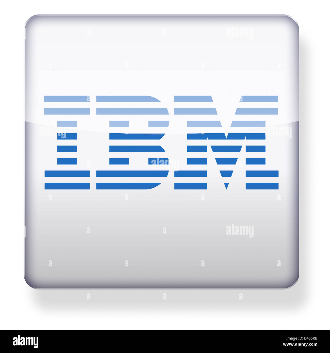 IBM logo as an app icon. Clipping path included. - Stock Image