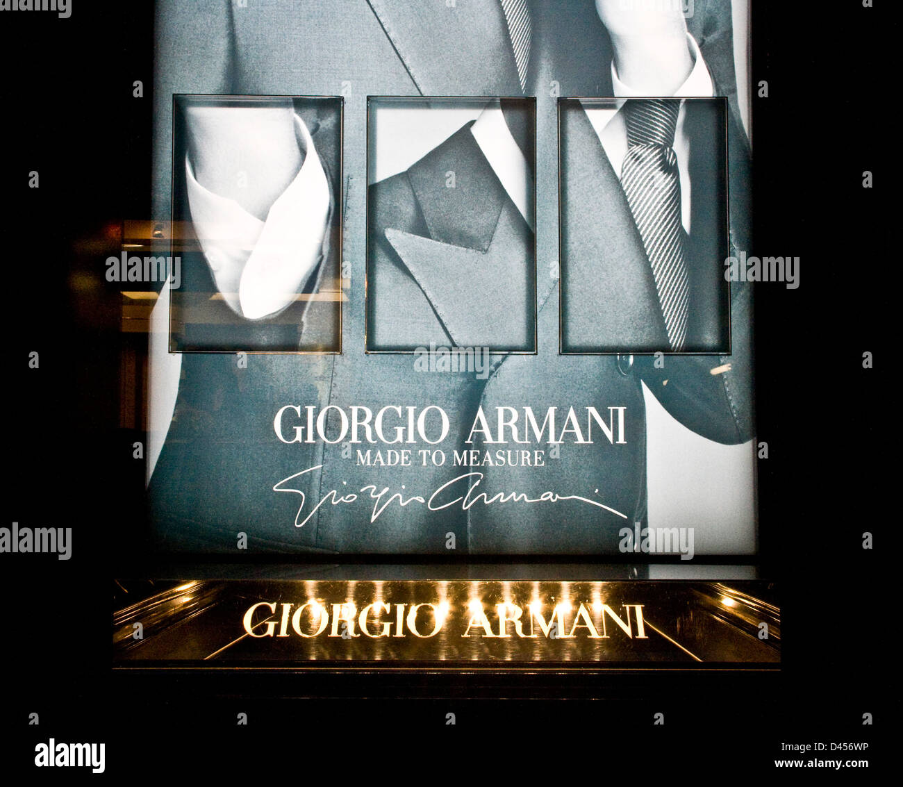 giorgio armani designer boutique made to measure advert. Black Bedroom Furniture Sets. Home Design Ideas