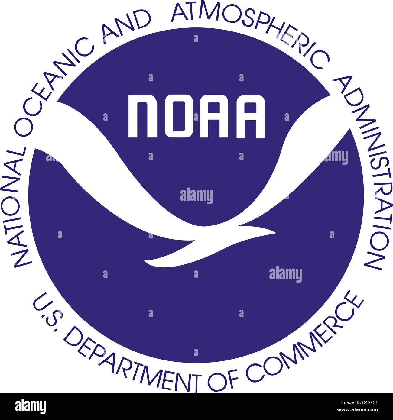 United States National Oceanic and Atmospheric Administration seal - Stock Image