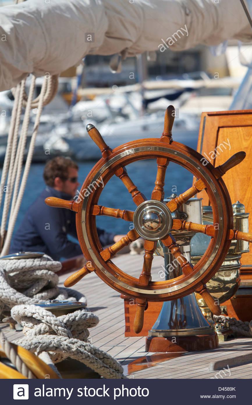 83, the sails of Saint-Tropez, Saint-Tropez, Var, PACA, France - Stock Image