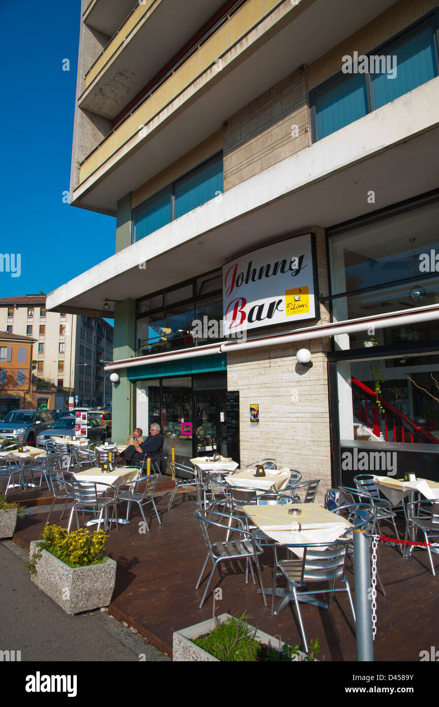 Johnny Bar cafe terrace Reggio Emilia city Emilia-Romagna region ...