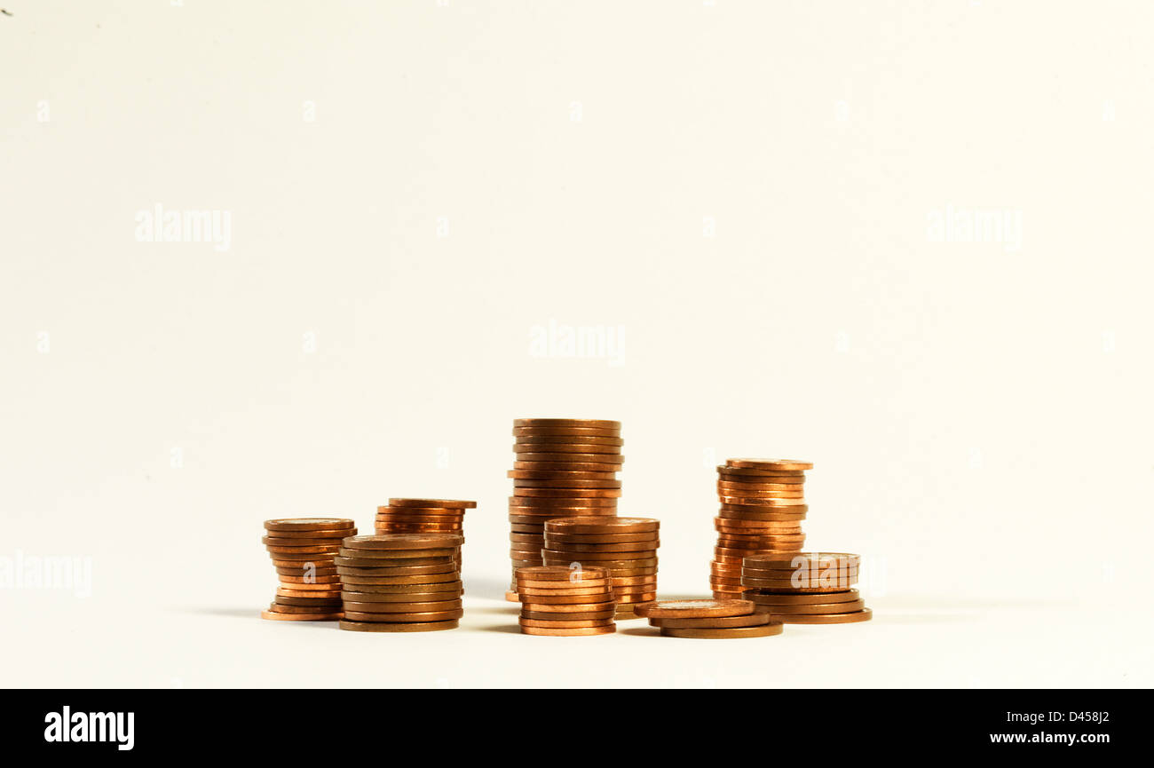 A pile of pennies, Stock Photo