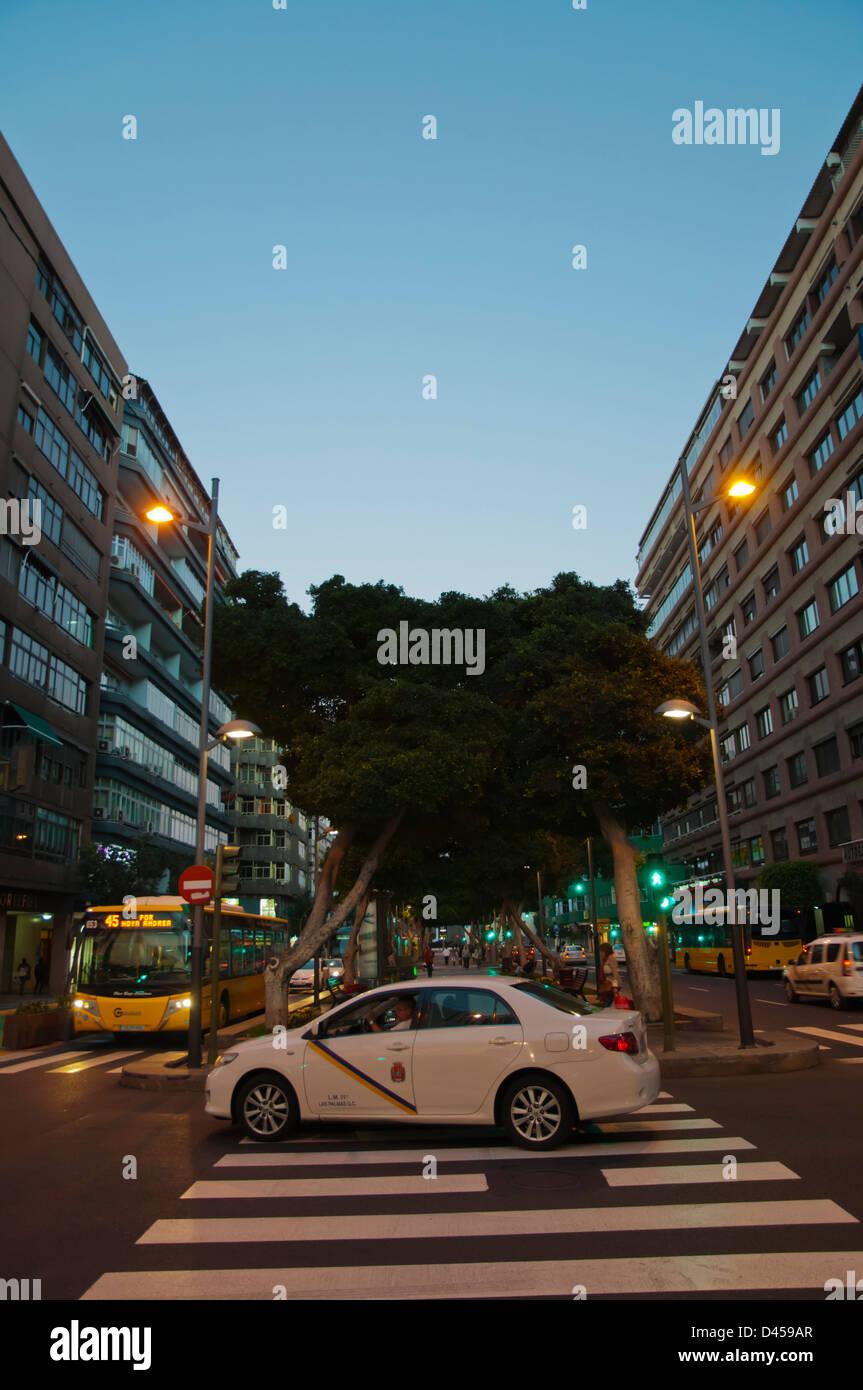 Avenida Mesa y Lopez street Santa Catalina district north Las Palmas de Gran Canaria city Gran Canaria island Spain - Stock Image