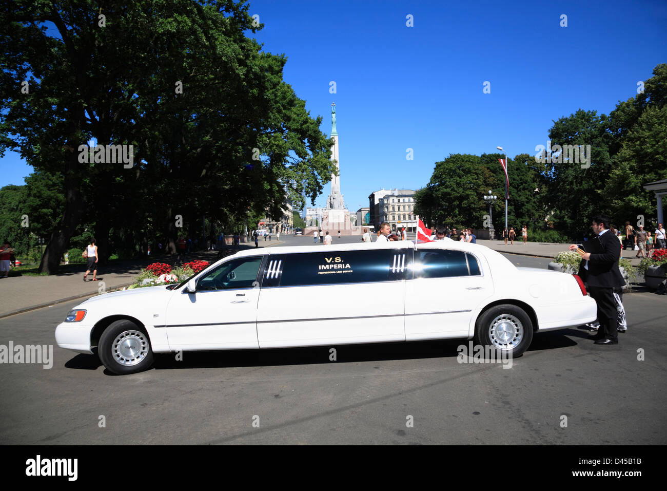 Wedding Limousine, Stretchlimousine in Riga, Latvia - Stock Image